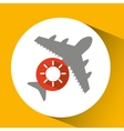 plane travel weather forecast sun icon vector image vector image