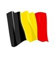 Political waving flag of belgium vector image