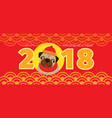 pug dog chinese new year 2018 vector image