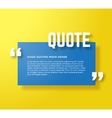 Rectangle Motivation Quote Template Yellow vector image