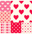 red hearts symbol seamless pattern vector image