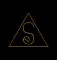 s luxury letter logo template in for restaurant vector image vector image