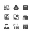 set icons credit vector image