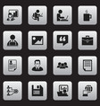 set of 16 editable company icons includes symbols vector image vector image