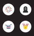 set of history icons flat style symbols with medal vector image vector image