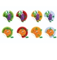 Set of stickers with eggplant vector image vector image