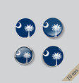 set round buttons with image south vector image vector image