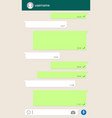 social network chatting window vector image vector image