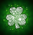 st patricks days card of white objects on shine vector image vector image