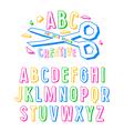 Stock creative alphabet vector image