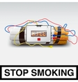 Stop smoking - cigarette bomb vector image vector image