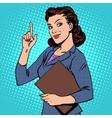 successful female businesswoman vector image