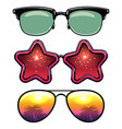 summer style eyeglasses vector image vector image