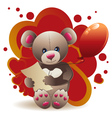 Teddy Bear with Heart3 vector image vector image