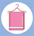 towel hanging laundry service vector image vector image