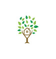 tree house logo icon graphic template vector image vector image