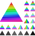 Triangular Logo Set vector image vector image