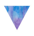violet and blue watercolor triangle vector image vector image