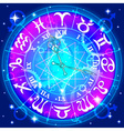 Watch with the astrological signs of the zodiac vector image vector image