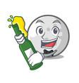 with beer golf ball mascot cartoon vector image