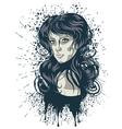 Grunge Retro Girl2 vector image