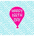 Seamless pattern a balloon with the words Happy vector image