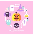 Halloween Party Trendy Poster vector image