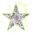 ink hand drawn fruits star vector image