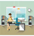 business woman working in office vector image