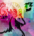 2015 New year of the Goat colorful background vector image vector image