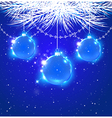 Abstract Christmas background with blue decoration vector image vector image