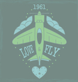 airplane emblem4VS vector image vector image