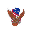American Eagle Wings USA Flag Drawing vector image vector image