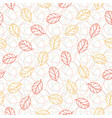 autumn seamless pattern with leaves fashion vector image vector image