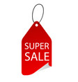 banner super sale tag image vector image