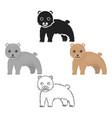 bear icon cartoonblack singe animal icon from vector image