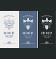 beer labels set vector image vector image