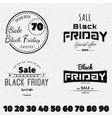 Black friday sale insignia and labels for any use vector image vector image