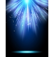 Blue magic light template EPS 10 vector image