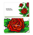 business card with flowers concept vector image