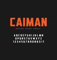 caiman trendy sans serif retro typeface font vector image vector image