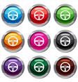 car steering wheel set 9 collection vector image vector image