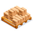carton square box delivery and packaging goods vector image