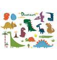 cartoon funny dinosaurs vector image vector image