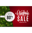 christmas holiday sale 80 percent off vector image vector image