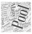 Do You Need a Pool House Word Cloud Concept vector image vector image