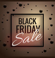 elegant black friday sale poster template with vector image vector image