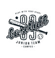 emblem of baseball junior team vector image vector image