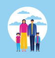 family outdoor together vector image