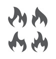 fire flame icons vector image